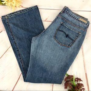 Vintage Jordache Lo-Rise Flare Blue Denim Jeans